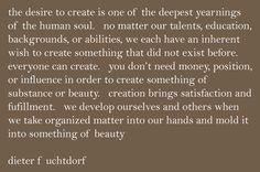 Desire to create...
