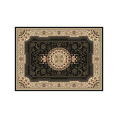 KHL Rugs Sensation Jayden Framed Floral Rug, Multicolor