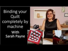 Binding your quilt completely by machine - YouTube