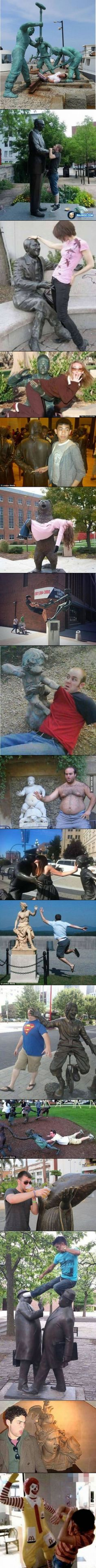 Humor Discover Fun with statues Stupid Memes, Stupid Funny, Haha Funny, Hilarious, Funny Stuff, Funny Images, Funny Photos, Best Funny Pictures, Humorous Pictures