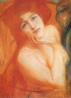 "[POLISH ART] Teodor Axentowicz ""Ruda"" (Red-haired Girl) 1899"