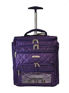 Aerolite 16 Carry On Under Seat Wheeled Trolley Luggage Bag for American Airlines Delta Southwest  More Purple -- You can find out more details at the link of the image.
