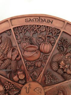 Wheel Of The Year Plaque - Samhain