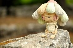 Flower or weed?  Would brighten colors and widen eyes for flower. Clever design.  amigurumi crochet pattern