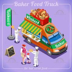 Food Truck 12 Isometric Vehicles