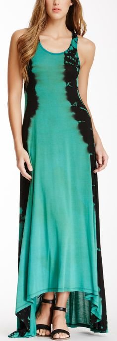Tie dying......certainly brings back memories.  Mine was pink but this dress is lovely!  Tie Dye Maxi Dress