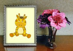 Check out this item in my Etsy shop https://www.etsy.com/listing/456773170/baby-giraffe-wall-art-kawaii