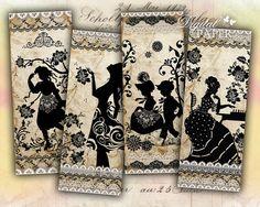 Marcadores Antiguos - Juego De 6 Marcadores - collage digitales - archivo imprimir JPG párrafo