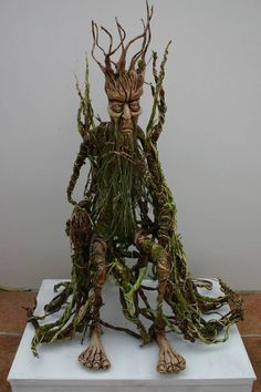Lord of the trees by impsandthings on DeviantArt Forest Creatures, Woodland Creatures, Magical Creatures, Fantasy Creatures, Tree People, Kobold, Woodland Fairy, Paperclay, Fairy Art