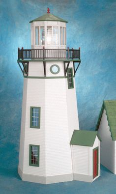 The New England Lighthouse Dollhouse Kit by Real Good Toys. Featuring a real blinking beacon light! Beacon Lighting, Beacon Of Light, New England Lighthouses, Real Good Toys, Dollhouse Kits, Candelabra Bulbs, Wall Outlets, Interior Trim, Le Moulin