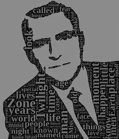 Rod Serling (twilight zone opening word cloud)