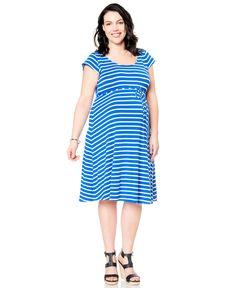 611baf8a839c3 Motherhood Plus Size Crochet Detail Maternity Swim Cover-up