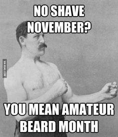 Amateur beard month