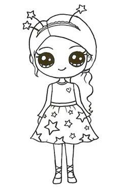 Cute Drawings Of People, Cute Food Drawings, Cute Cartoon Drawings, Cute Disney Drawings, Bff Drawings, Easy Drawings For Kids, Cartoon Girl Drawing, Cool Art Drawings, Cartoon Art