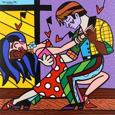 Salsa Dancers by Romero Britto.