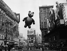 The Macy's Thanksgiving Day Parade in New York in the early 1960s