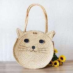 Find More Shoulder Bags Information about Circular Straw Beach Bags Lovely Cat Cartoon Handmade Weave Bohemia Summer Women Handbags Wheat straw Double Shoulder Bags Q042,High Quality bag charcoal,China bag guess Suppliers, Cheap bags tactical from SEAC Fashion Bag Store on Aliexpress.com