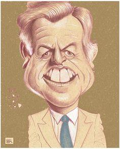 Ted Kennedy  Artist: Dan Springer  website: http://caricatureking.blogspot.com/