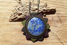 Check out this item in my Etsy shop https://www.etsy.com/listing/471997718/lapis-lazuli-handmade-macrame-gemstone