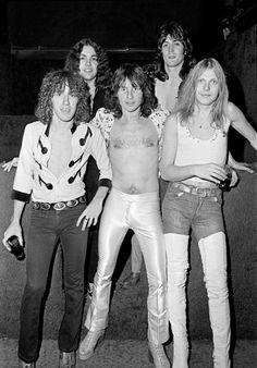 UFO, March/1976, LR Danny Peyronel Andy Parker Phil Mogg Pete Way Michael Schenker