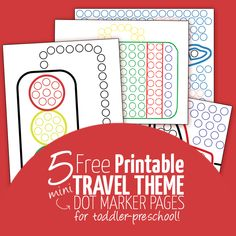 free printable travel sheets Dot Marker Pages.  Ages: Toddlers to Preschool Credits: momsandcrafters.com