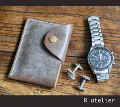 Minimalist Business / Credit Card Wallet   Slim Leather Wallet #handmadeleather #minimalistwallet #slimwallet #leatherwallet