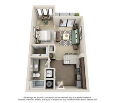 Studio Gateway West Apartments Also Showcases High End Interiors With Small  Footprints.