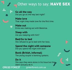 Other ways to say Have sex