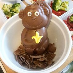 We Liked this on Instagram ... sophieesw: Sick of the easter eggs and chocolate monkey looking at me so I'm melting them down to make buns #chocolate #slimmingworld #sw #treats