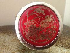 Red Steel Mirror Handbag Compact Mirror- Birthday Wedding Occasion Gift
