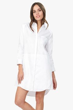 The simple shirtdress is given a fresh spin with a structured disposition, inspired by the architecture of Luis Barragán. Crisp yet sumptuously soft, it is crafted from exquisite Turkish cotton-poplin. The rich fibers are of the utmost quality and weight for a rich approach to the timeless texture. Unexpected layering and a distinctive seam at the waist lend it an elevated look and feel, ensuring it can transition effortlessly from desk to dinner. Slip it on with love-worn sneakers for day…