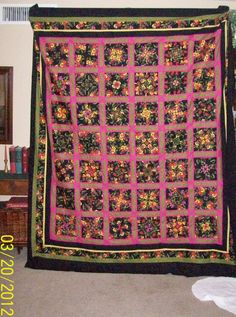 4 patch posy quilt top.