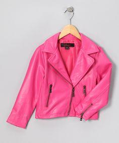 Pink Motorcycle Jacket-Biker Chick Style