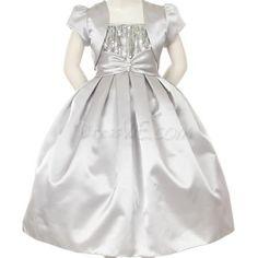 Dresswe.com SUPPLIES Amazing Ball Gown Floor-length Bateau Sequins & Bowknot Flower Girl Dress 2013 Flower Girl Dresses