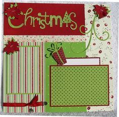 christmas scrapbook layouts - Google Search                                                                                                                                                      More