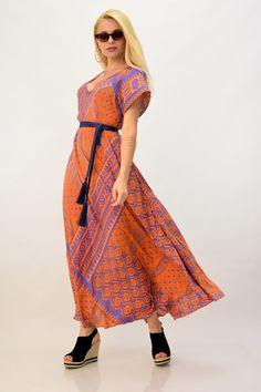 Μακρύ φόρεμα μεταξωτό | POTRE Wrap Dress, Summer Dresses, Vintage, Style, Fashion, Swag, Moda, Summer Sundresses, Fashion Styles