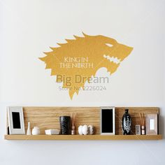King in the North Removable Wall Sticker //Price: $9.99 & FREE Shipping //     #WinterIsComing