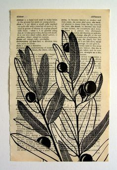 Jezze Prints: prints on old book pages  What to do with your old books that couldnt sell!  -Jenna