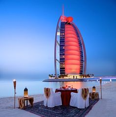 Ummm not necessarily the cheapest place to eat.... but its pretty and @ Burj Al Arab, Dubai