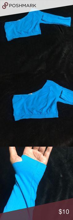 Sexy blue crop top Sexy blue crop top.  Spandex material. Tops Crop Tops