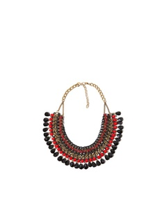 ZARA AW12-13  Collar cadenas y cuerdas con piedras de color  17,95€  Ref. 2673/206