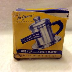 A personal favorite from my Etsy shop https://www.etsy.com/listing/277794692/vintage-1950s-iob-single-cup-drip-coffee