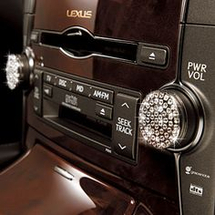 Bling Lexus Radio Knobs