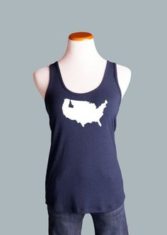 Idaho, US Crossover Back Tank, Navy – Team 44 Apparel