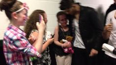 Exclusive One Direction backstage meet & greet, Manchester, via YouTube.
