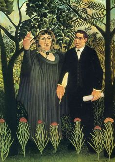 Muse Inspiring the Poet (Portrait of Guillaume Apollinaire and Marie Laurencin), Henri Rousseau, Henri Rousseau, Georges Seurat, Art Haïtien, Haitian Art, Avant Garde Artists, Learn Art, Post Impressionism, Paul Gauguin, Art Database
