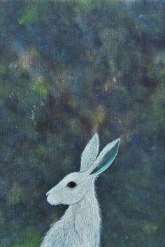 Stargazing by Deborah Sheehy ~ Hare Archival Art Print