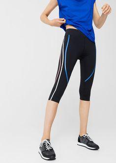 Slimming effect capri leggings
