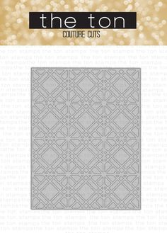 Geometric Lattice Coverplate Die