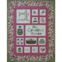 Rose Cottage ~ A Sewing Room Quilt Pattern http://www.victorianaquiltdesigns.com/VictorianaQuilters/PatternPage/RoseCottage/RoseCottage.htm #quilting #sewing